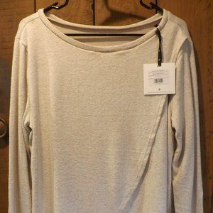 NWT Agnes & Dora Oatmeal  Crossover Sweater Size L